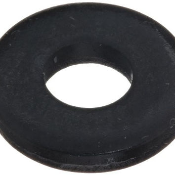"1010 Steel Flat Washer, Black Oxide Finish, 5/16""-3/8"" Hole Size, 3/16"" ID, 7/16"" OD, 5/64"" Nominal Thickness, Made in US (Pack of 2)"