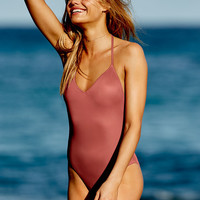 Plunge One-Piece - PINK - Victoria's Secret