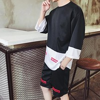 Men loose Hip-Hop Set Summer Men Clothing Suits Sweatshirt Men Suits For Men set summer design