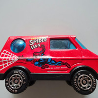 Vintage Buddy L The Amazing Spider Van Metal Vehicle Toy 1984