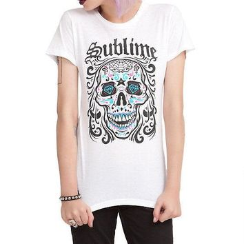 Sublime SUGAR SKULL Girls Junior T-Shirt NWT Licensed & Official