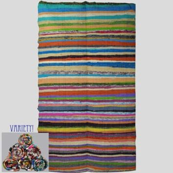 Recycled Fabric Rag Rug