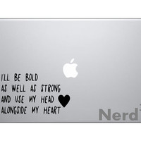 Musical Quote Macbook vinyl decal - For macbooks, laptops, car windows, etc...
