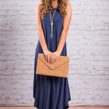 Boldly Go Maxi Dress, Navy