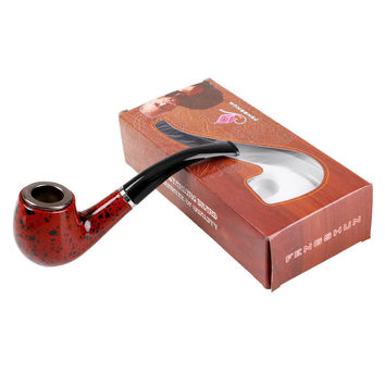 Recircle Wooden Steel Smoking Pipe Convenience Tobacco Cigarettes Durable