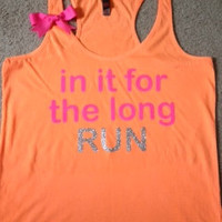 In it for the Long Run Racerback Tank by RufflesWithLove on Etsy