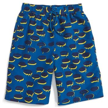 Stella McCartney Boys Blue Chat Bubble Swim Shorts