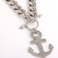 Anchor Charm Necklace - Gold or Silver