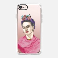 Frida Kahlo (clear) iPhone 7 Case by Barruf | Casetify