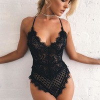 3 Colors Sexy Lace Hollow Out Sexy Exotic Lingerie