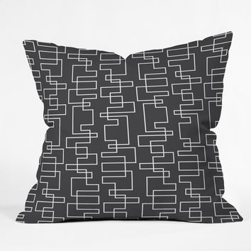 Heather Dutton Transit Black Throw Pillow