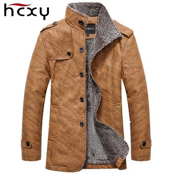 Men's Winter Leather Motorcycle Warm Jackets