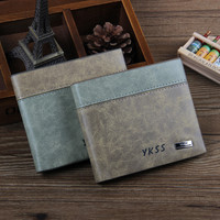 Vintage Mens Leather Card Holder Wallet
