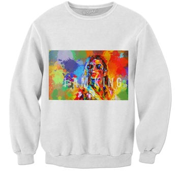 Micheal Jackson-I AM KING Sweater