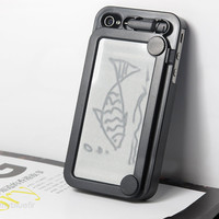 Magic Drawing broad iphone case Cover For iPhone 4/ 4S Black Retro Style