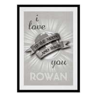 Personalized I Love You To The Moon & Back Poster