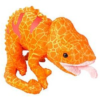 6 Inch Orange Veiled or Panther Chameleon Stuffed Animal Plush Zoo Animal Friend Collection