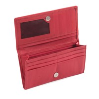 300965-RD Ladies Leather Clutch Wallet in Red | Style n Craft