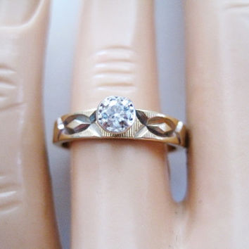Vintage Artcarved .10 Diamond Engagement Ring 14K Sz 6.5 - LIKE NEW!!! Art Carved