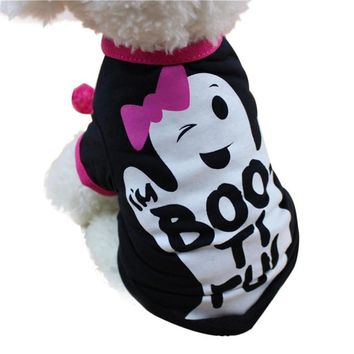 Halloween Devil Pet dog clothes coat Cat Puppy winter Jacket Costume kitty doggy clothing