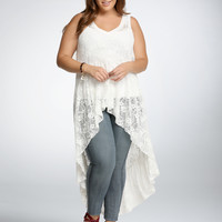 Lace Extreme Hi-Lo Tank Top