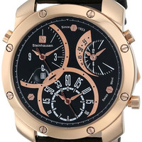 Steinhausen MW1306RGRGLRGWL Men's Watch Triple Time Zone Rose Gold