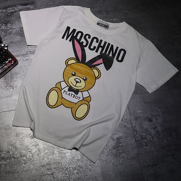 Moschino Woman Men Fashion Casual Sports Shirt Top Tee