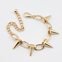 Bracelet Gold Spike Chain