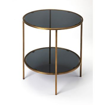 Butler Roxanne Iron & Glass End Table