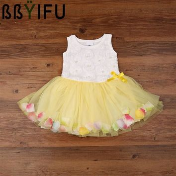 BBYIFU 0-2Year Baby Girl Dress Newborn Princess Dress Baby Wedding Dress 1 Year Baby Girl Birthday Dress Infant Christening Gown