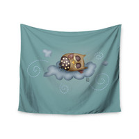 "Carina Povarchik ""Sleepy Guardian"" Owl Wall Tapestry"