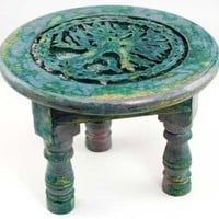 New Age Imports Round Tree of Life Altar Table