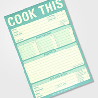 Cook This! Notepad | Recipe Note Pad | fredflare.com