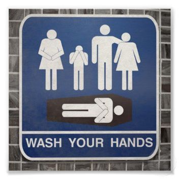 Wash Your Hands Poster from Zazzle.com