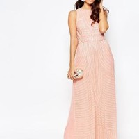 A Star Is Born | A Star Is Born All Over Embellished High Neck Maxi Dress at ASOS