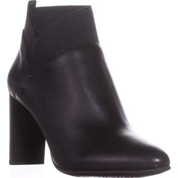 Nine West Kalette Ankle Booties, Black/Black, 10 US