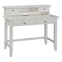 Naples Student Desk and Hutch - White