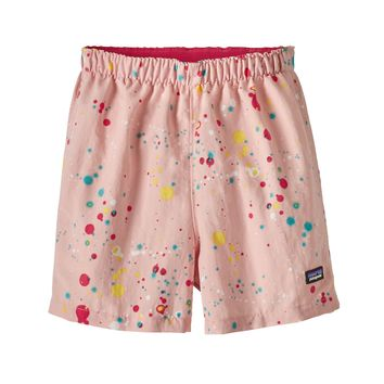 f9f3a1d8 Patagonia, Baby Baggies Shorts, Sequoia Splatter: Feather Pink