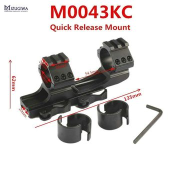 MIZUGIWA Tactical 25.4mm 30mm Dual Ring Cantilever HeavyDuty Scope Mount / Quick Release QD Cam Locks Adapter Picatinny Weaver