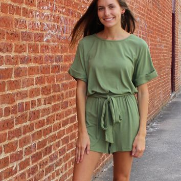 Work Things Out Romper Green