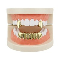 Vampire Gold Grills Healthy Teeth