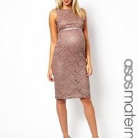 ASOS Maternity Exclusive Lace Body-Conscious Dress With Ribbon Detail