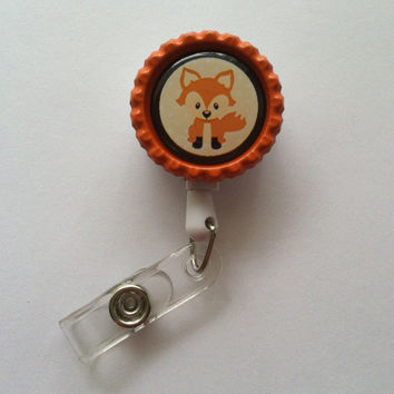 Fox Retractable ID Badge Reel-NICU Nurse-Pediatric Nurse-Children's Nurse-Rn-Lpn-Cna-Medical Assistant-Vet Tech