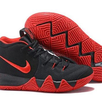 DCCK Nike Men's Kyrie Irving 4 Black/Red Basketball Shoes US7-12