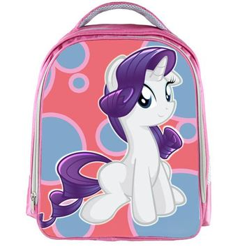 Student Backpack Children Moive My Little Pony Pink Waterproof Backpack Students School Bag For Girls Boys Rucksack mochila children Backpack customize AT_49_3