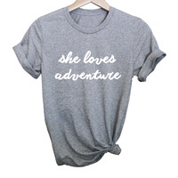 She Loves Adventure Tee