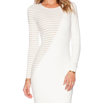 AQ/AQ Haze Mini Dress in Cream