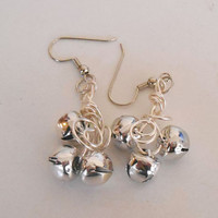 Christmas Jingle Bell Dangle Earrings hypo-allergenic