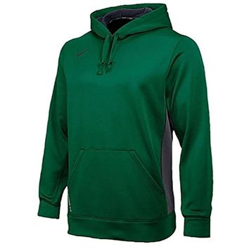 NIKE Dri-Fit KO 2.0 Men's Hoodie Hooded Sweatshirt (X-Large, Dark Green/Anthracite/Anthracite)