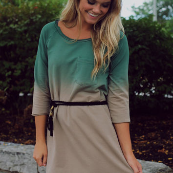 Falling From Grace Dress - Hunter Green